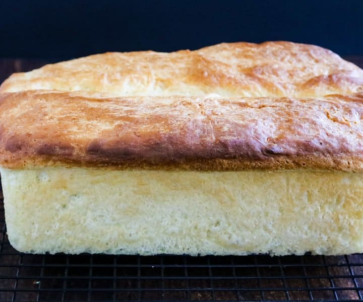 Buttermilk bread baked and just out of the pan