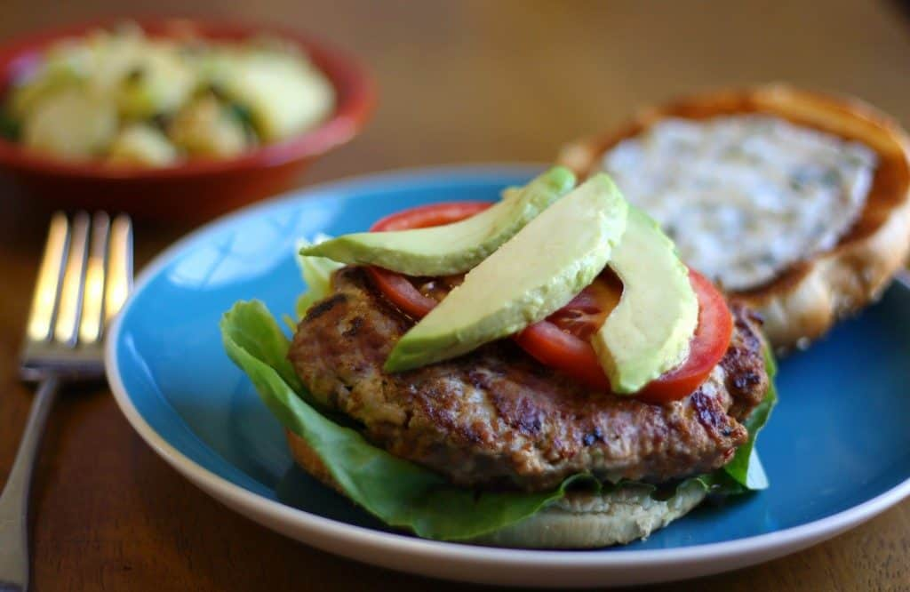 Chipotle turgey burgers with lime crema