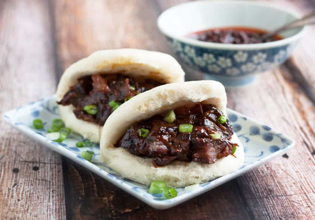 Char siu bao or BBQ pork-filled steamed buns
