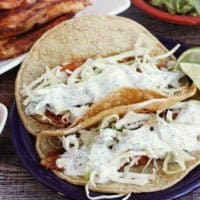 Blackened Fish Tacos with Cilantro-Lime Cream