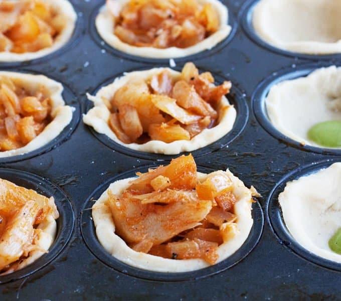 salt cold tartlets filled and ready to bake