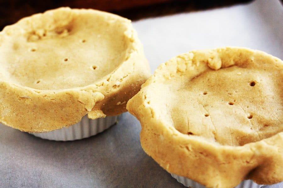 gluten free chicken pot pie before baking