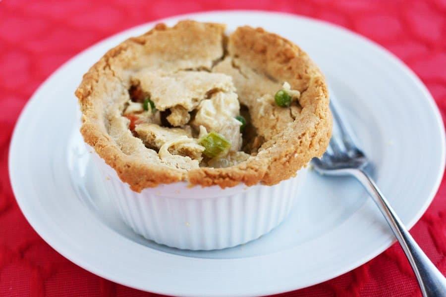gluten free chicken pot pie finished