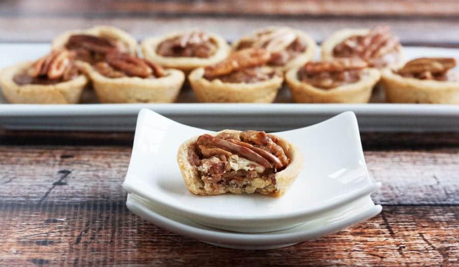 gluten free pecan pie tartlet