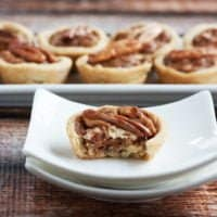 Gluten Free Pecan Tartlets with Date Caramel
