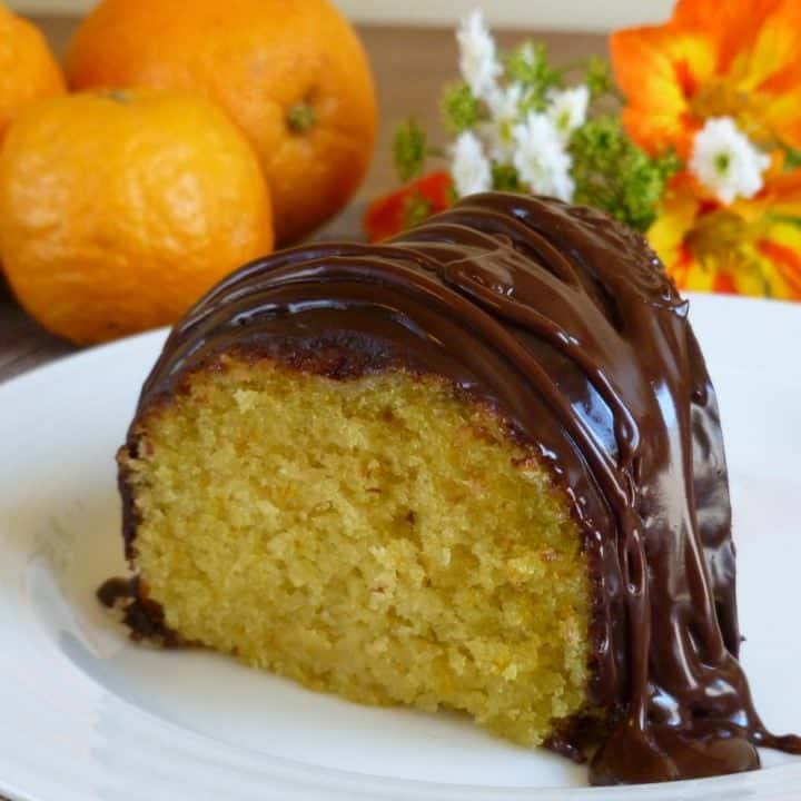 Orange Cake with Bittersweet Chocolate Drizzle