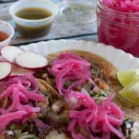Mexican Pickled Onions with Lime Juice