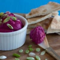 Roasted Beet and White Bean Hummus