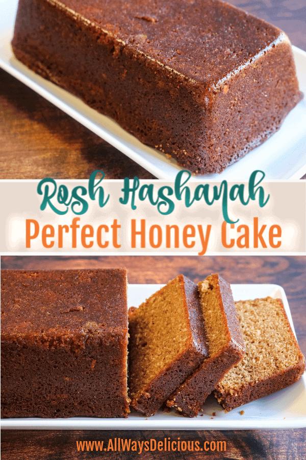 Honey cake for rosh hashana pinterest image