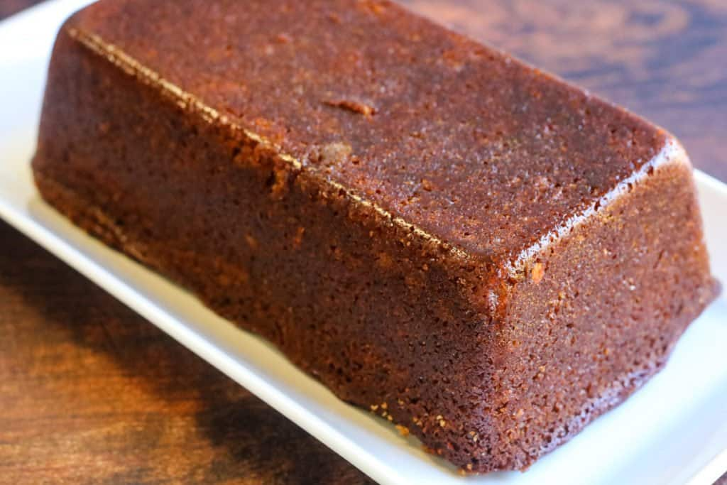 honey cake for Rosh Hashana baked in a loaf pan