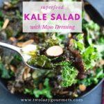miso dressing kale salad