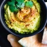 Curry Hummus with Jalapeno, Cilantro + a Secret