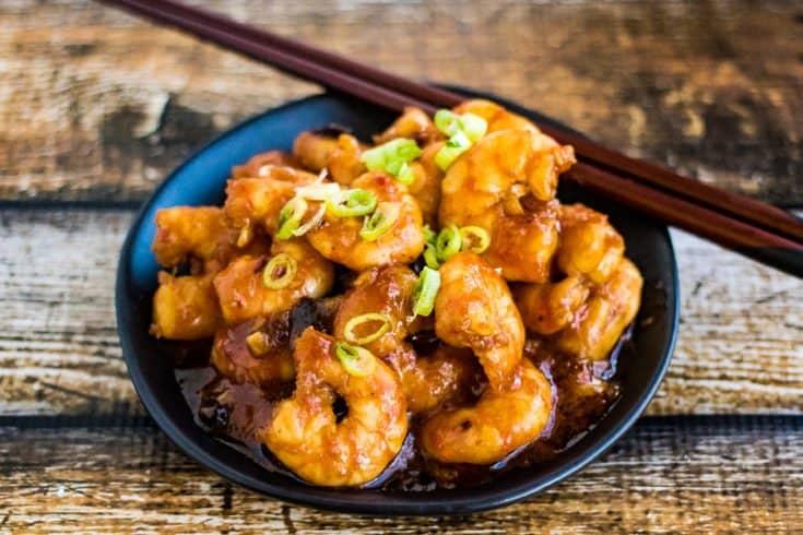 Szechuan Shrimp for Chinese New Year