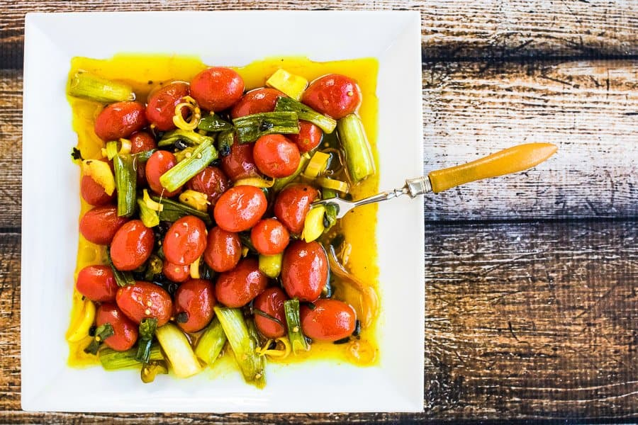 Quick Turmeric Pickled Tomatoes