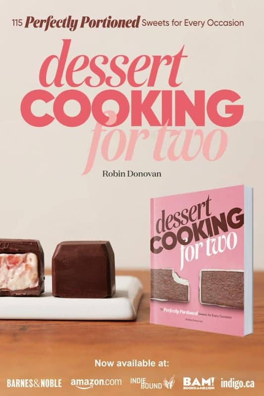 dessert cooking for two by robin donovan now available at amazon.com and everywhere books are sold
