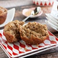 Gluten Free Banana Muffins with Peanut Butter