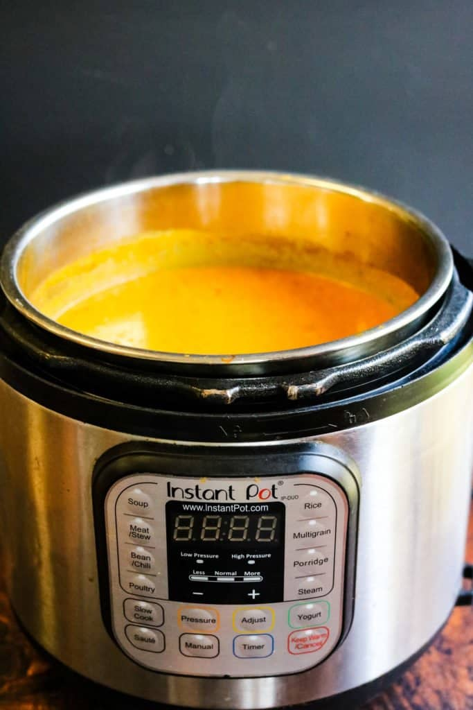 mulligatawny soup in an instant pot