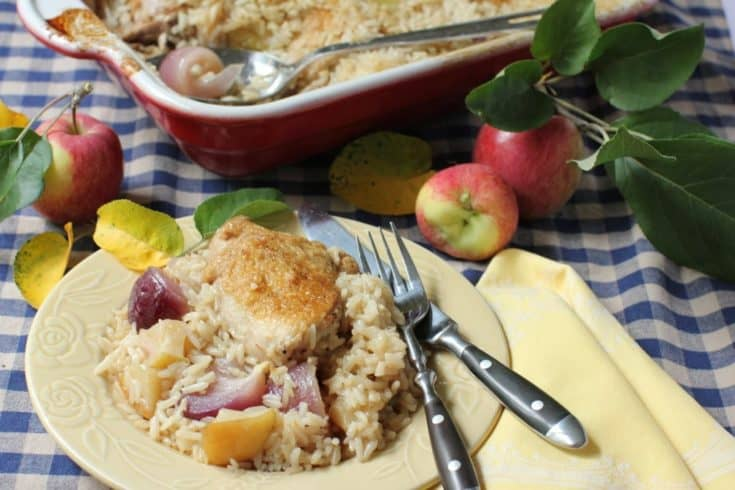 Chicken Bake with Apples, Onions, and Horseradish