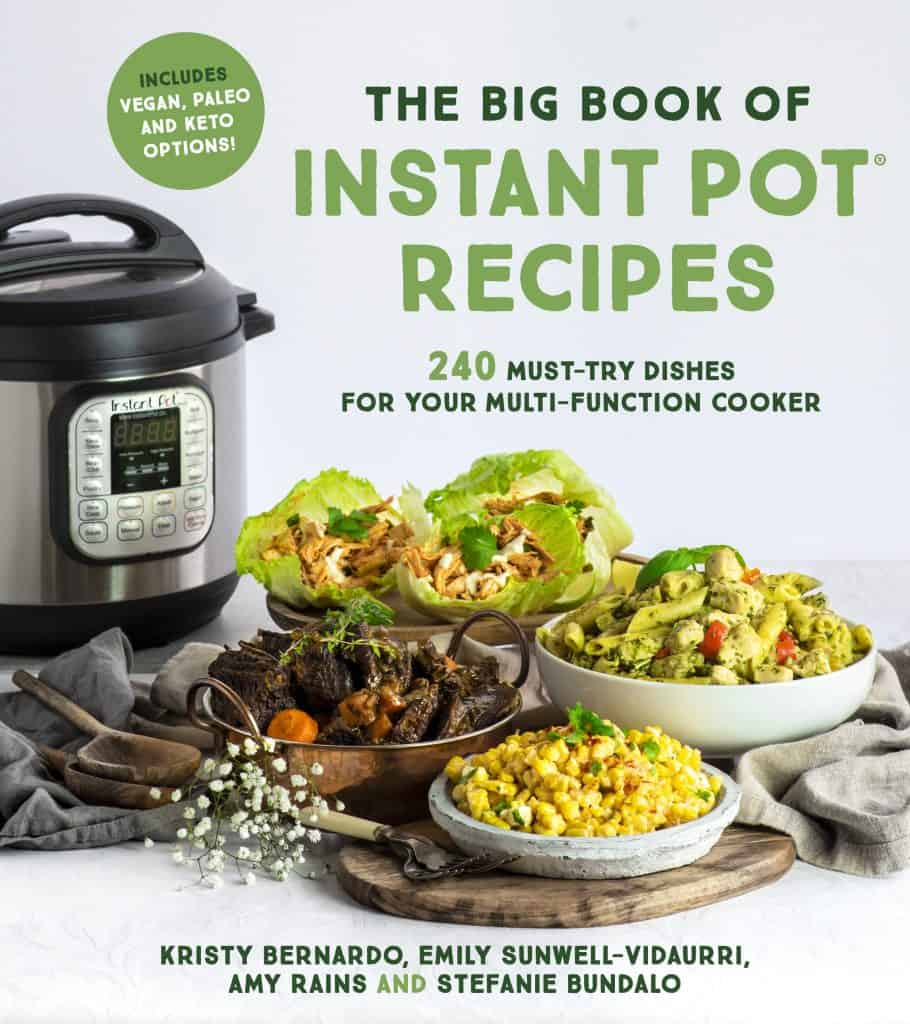 cover of the big book of instant pot recipes