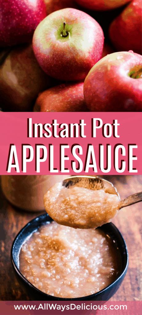pinterest long pin for Instant Pot applesauce