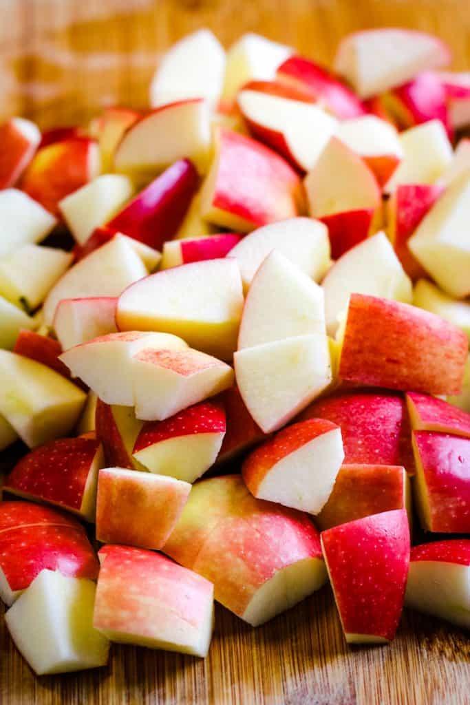 chopped Fuji apples