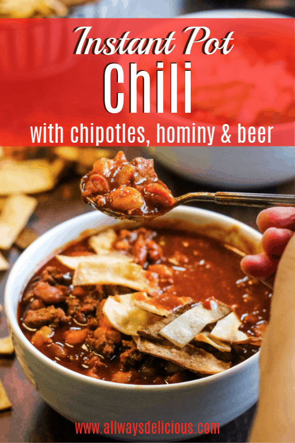 pinterest pin for instant pot chili