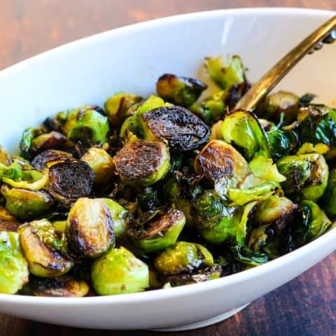 Crispy Brussels Sprouts with Balsamic