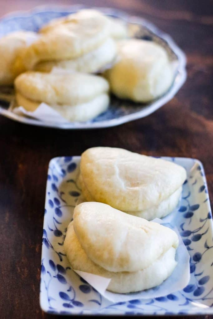 steamed buns on a plate