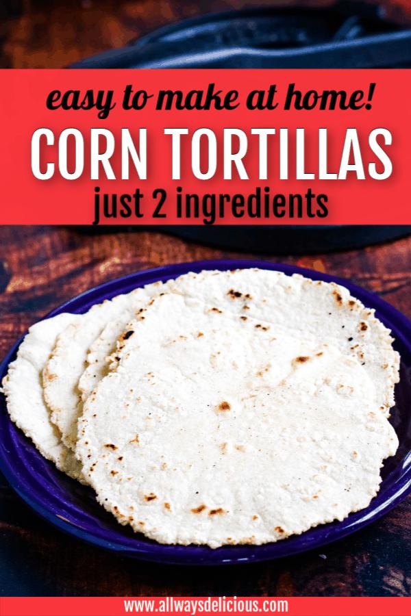 pinterest pin for corn tortillas