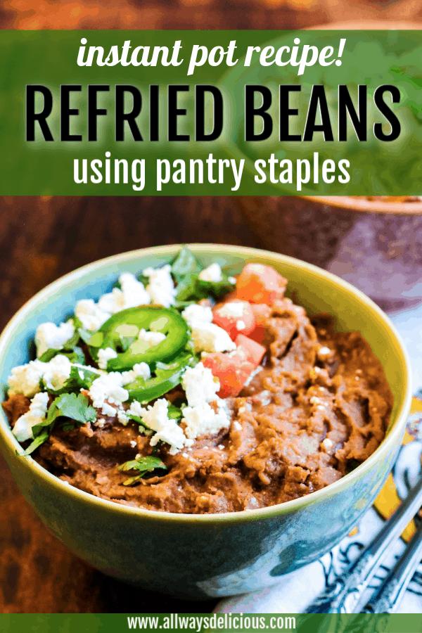 pinterest pin for instant pot refried beans