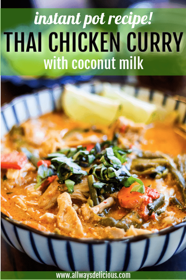 pinterest pin for thai chicken curry