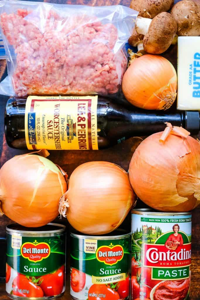ingredients for instant pot bolognese sauce