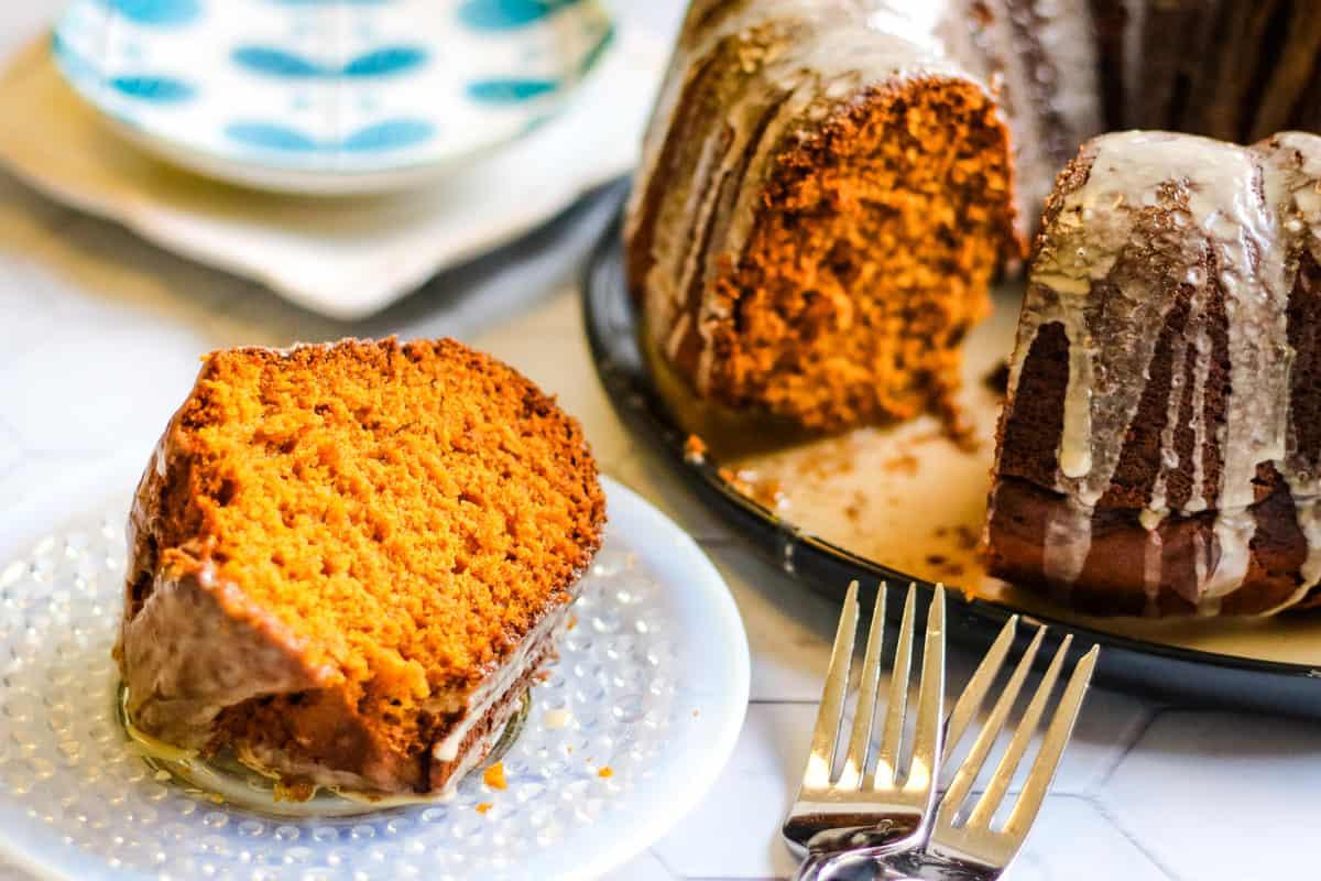 Pumpkin Bundt Cake with Coffee Glaze | All Ways Delicious