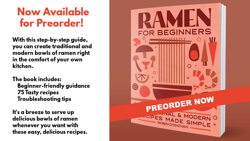 Graphic for preordering Ramen for Beginners.
